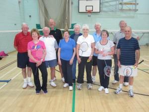 Badminton players in autumn 2014