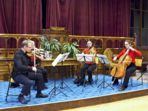 A musical quartet led by Andrew Rostron