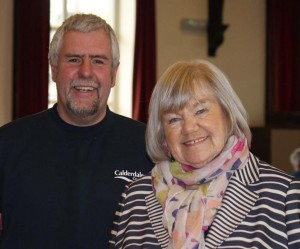 Chair Jean Pearson with David Wilson, Area Countryside Officer