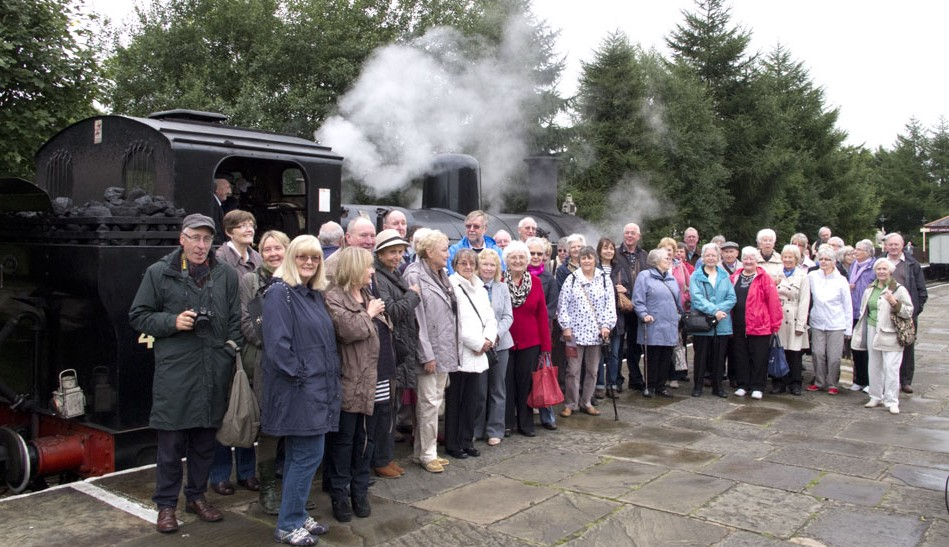 Monthly Let's go trip to the steam railway